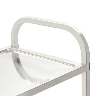 vidaXL Carrinho de cozinha de 2 níveis 87x45x83,5 cm aço inoxidável[4/6]