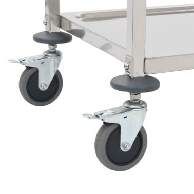 vidaXL Chariot de cuisine à 5 niveaux 107x55x147 cm Acier inoxydable[5/7]