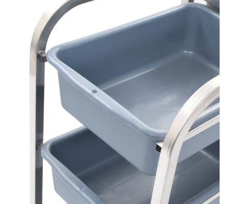 vidaXL Chariot de cuisine avec récipients en plastique 87x43,5x92 cm[4/11]