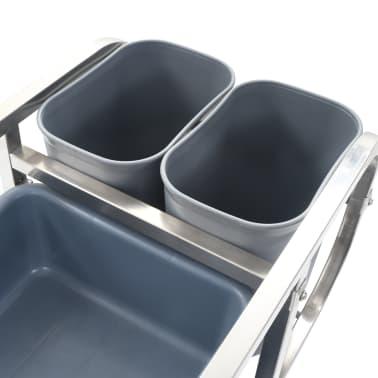 vidaXL Chariot de cuisine avec récipients en plastique 87x43,5x92 cm[5/11]