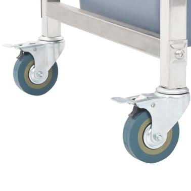 vidaXL Chariot de cuisine avec récipients en plastique 87x43,5x92 cm[6/11]
