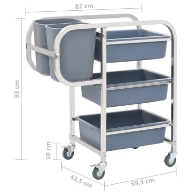 vidaXL Chariot de cuisine avec récipients en plastique 87x43,5x92 cm[9/11]