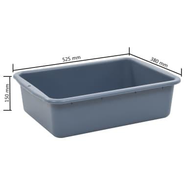 vidaXL Chariot de cuisine avec récipients en plastique 87x43,5x92 cm[10/11]