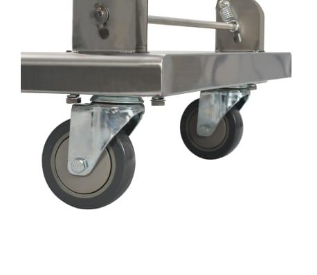 vidaXL Plattformwagen Silbern 82 x 53 x 86 cm Edelstahl[7/8]