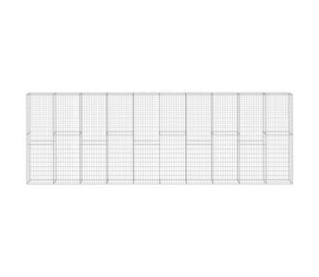vidaXL Gabion Wall with Covers Galvanised Steel 600x30x200 cm