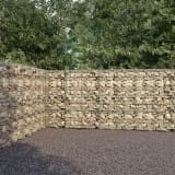 vidaXL Gabionmur i galvaniserat stål 600x30x200 cm