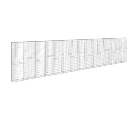 vidaXL Gabionmur i galvaniserat stål 900x50x200 cm