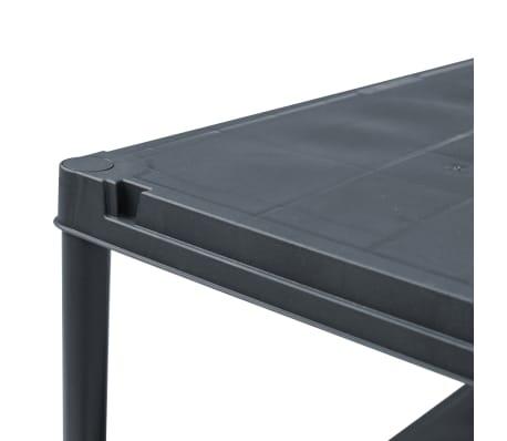 vidaXL Stojala s policami 2 kosa plastika 60x30x138 cm črna[6/9]