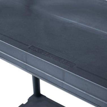 vidaXL Scaffali 2 pz 60x30x138 cm Nero in Plastica[7/9]