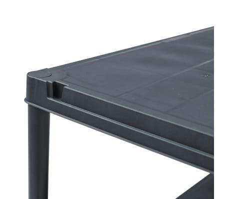 vidaXL Stojala s policami 5 kosov plastika 60x30x138 cm črna[6/9]