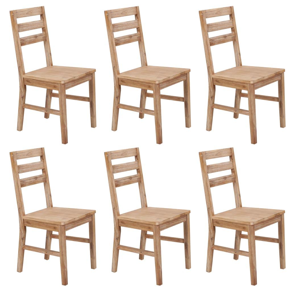 vidaXL Καρέκλες Τραπεζαρίας 6 τεμ. από Μασίφ Ξύλο Ακακίας
