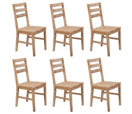 vidaXL Dining Chairs 6 pcs Solid Acacia Wood