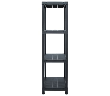 vidaXL Opbergrekken 2 st 200 kg 80x40x138 cm kunststof zwart[5/9]