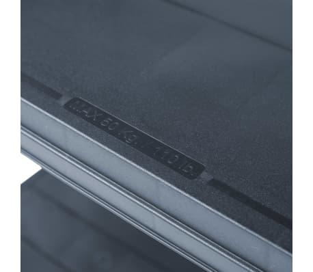 vidaXL Sandėliavimo lentynos, 2vnt., juod., 80x40x138cm, plast., 250kg[7/9]