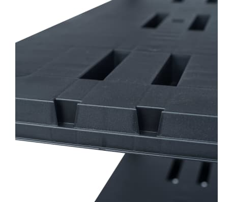 vidaXL Sandėliavimo lentynos, 2vnt., juod., 90x40x138cm, plast., 220kg[7/8]