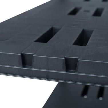 vidaXL Sandėliavimo lentynos, 2vnt., juod., 90x40x138cm, plast., 220kg[6/8]