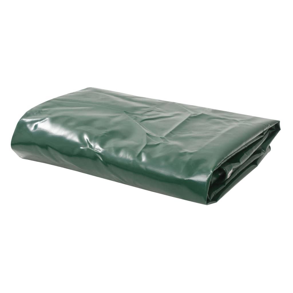 vidaXL Plachta 650 g/m² 1,5 x 6 m zelená