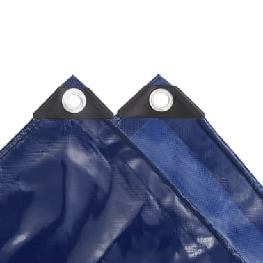 vidaXL Telone Impermeabile 650 g / m² 1,5x10 m Blu[4/5]