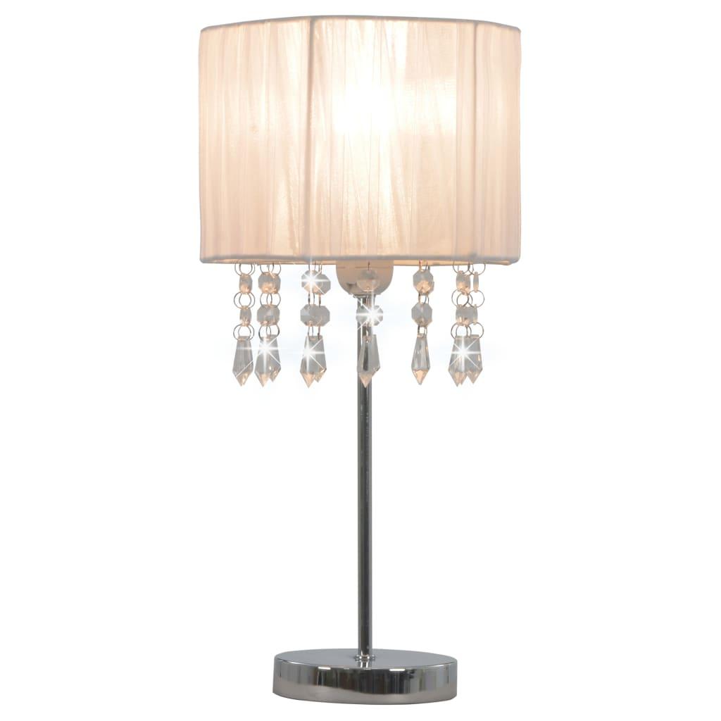 Stolní lampa bílá kulatá E27