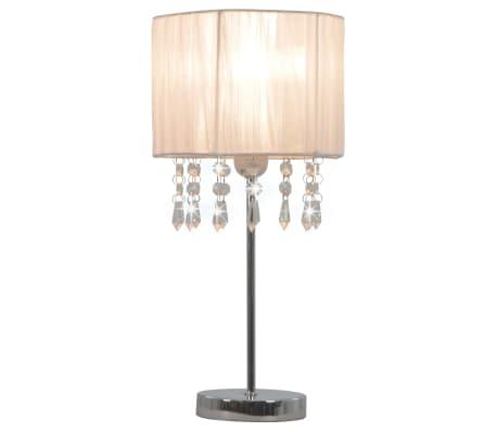 vidaXL Lámpara de escritorio redonda blanca E27