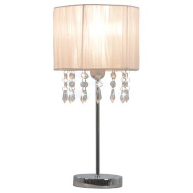vidaXL Lámpara de escritorio redonda blanca E27[1/6]