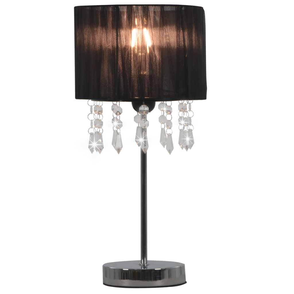 Stolní lampa černá kulatá E27