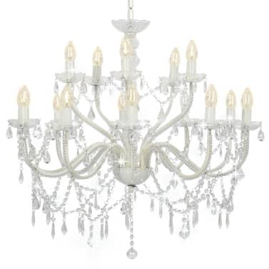 vidaXL Lustre 2 couches Blanc 15 ampoules E14[1/9]