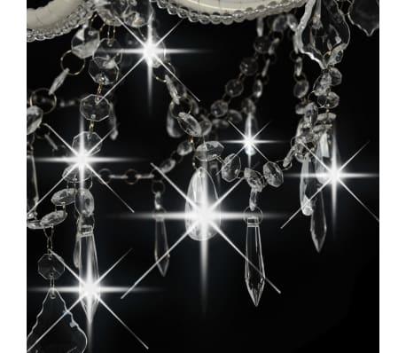 vidaXL Lustre 2 couches Blanc 15 ampoules E14[6/9]