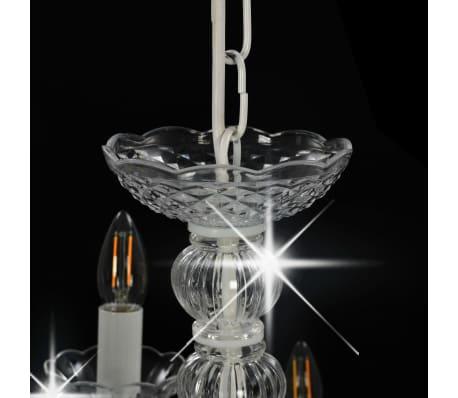 vidaXL Lustre 2 couches Blanc 15 ampoules E14[7/9]