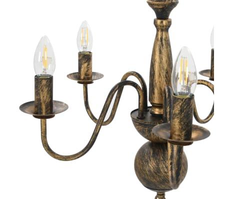 vidaXL Lustre Noir antique 5 ampoules E14[4/7]
