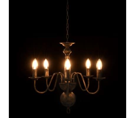 vidaXL Lustre Noir antique 5 ampoules E14[5/7]