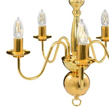 vidaXL Lustre Doré 5 ampoules E14[9/11]