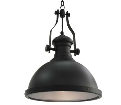 vidaXL Lámpara de techo redonda negra E27
