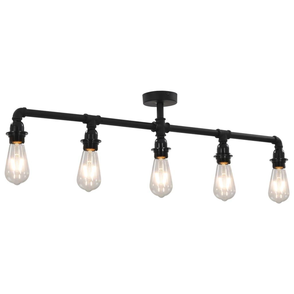 Deze strakke plafondlamp wordt gekenmerkt door een modern ontwerp, dat een aantrekkelijke aanvulling is op elk interieur.