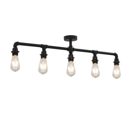 vidaXL Ceiling Lamp Black 5 x E27 Bulbs