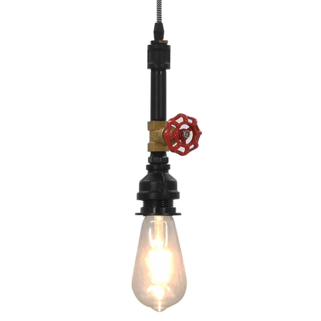 Závěsná lampa design vodovodní kohoutek černá E27