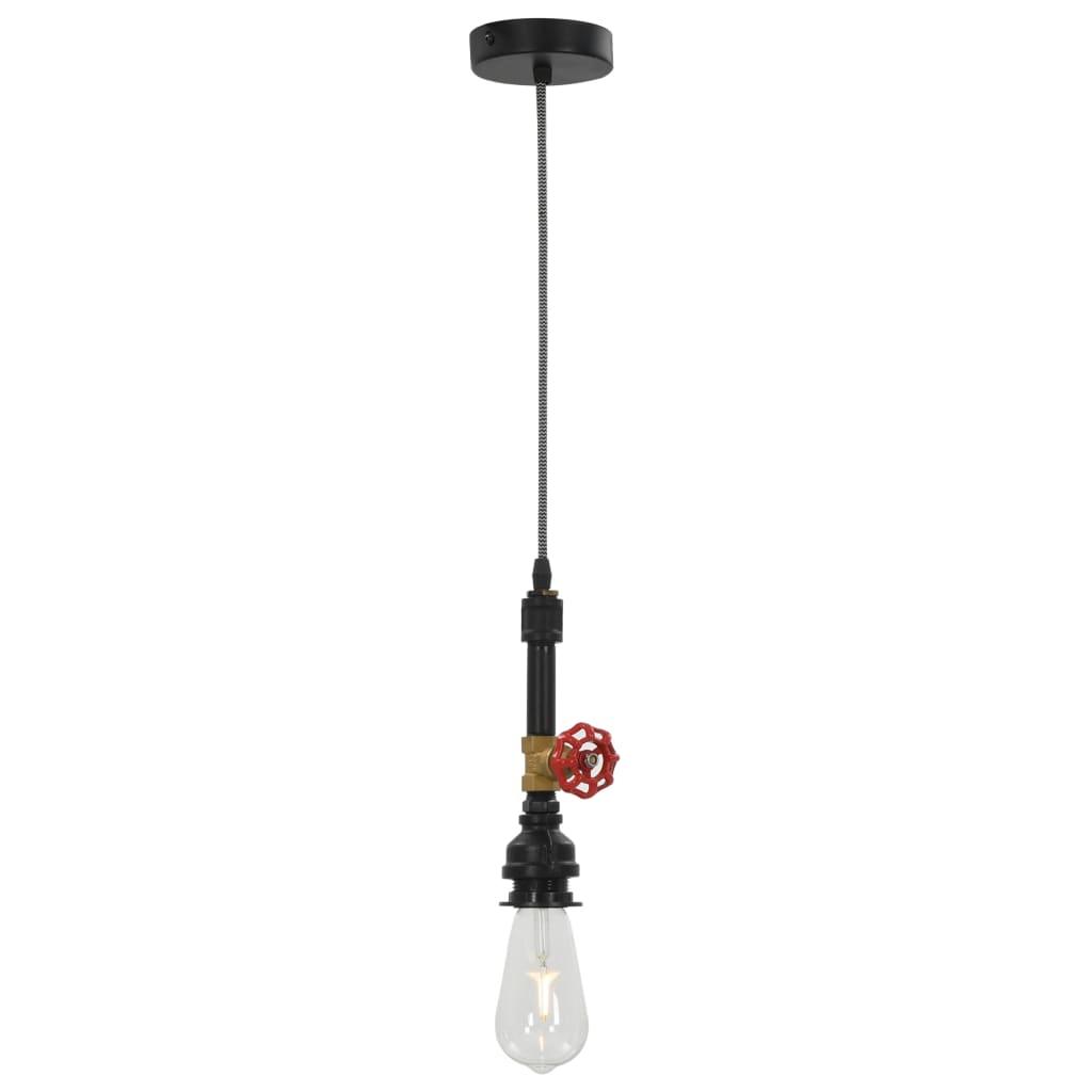 Comwinkel Hanglamp kraan-ontwerp E27 zwart