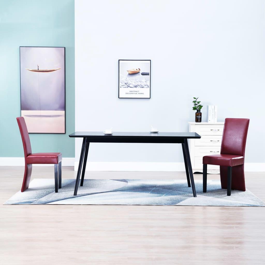 vidaXL Jídelní židle 2 ks vínové umělá kůže