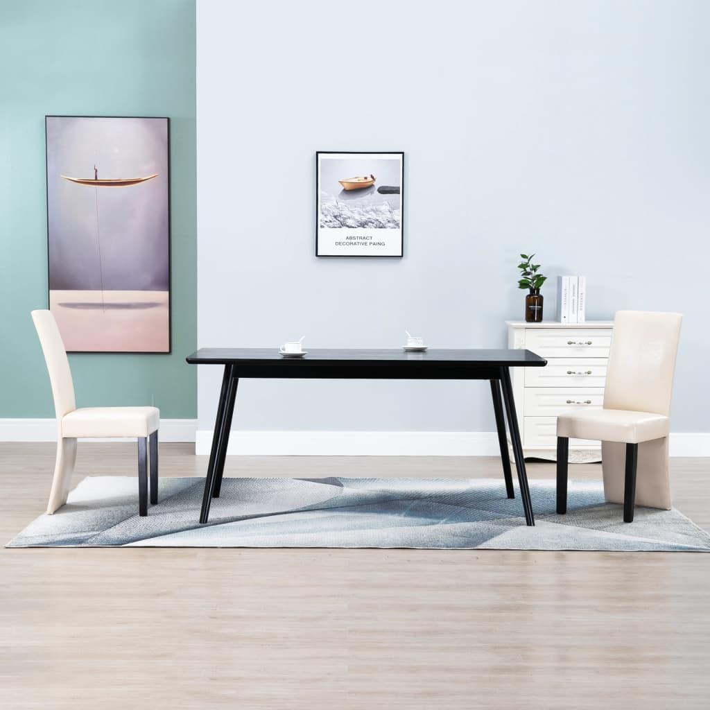 vidaXL Jídelní židle 2 ks krémové umělá kůže
