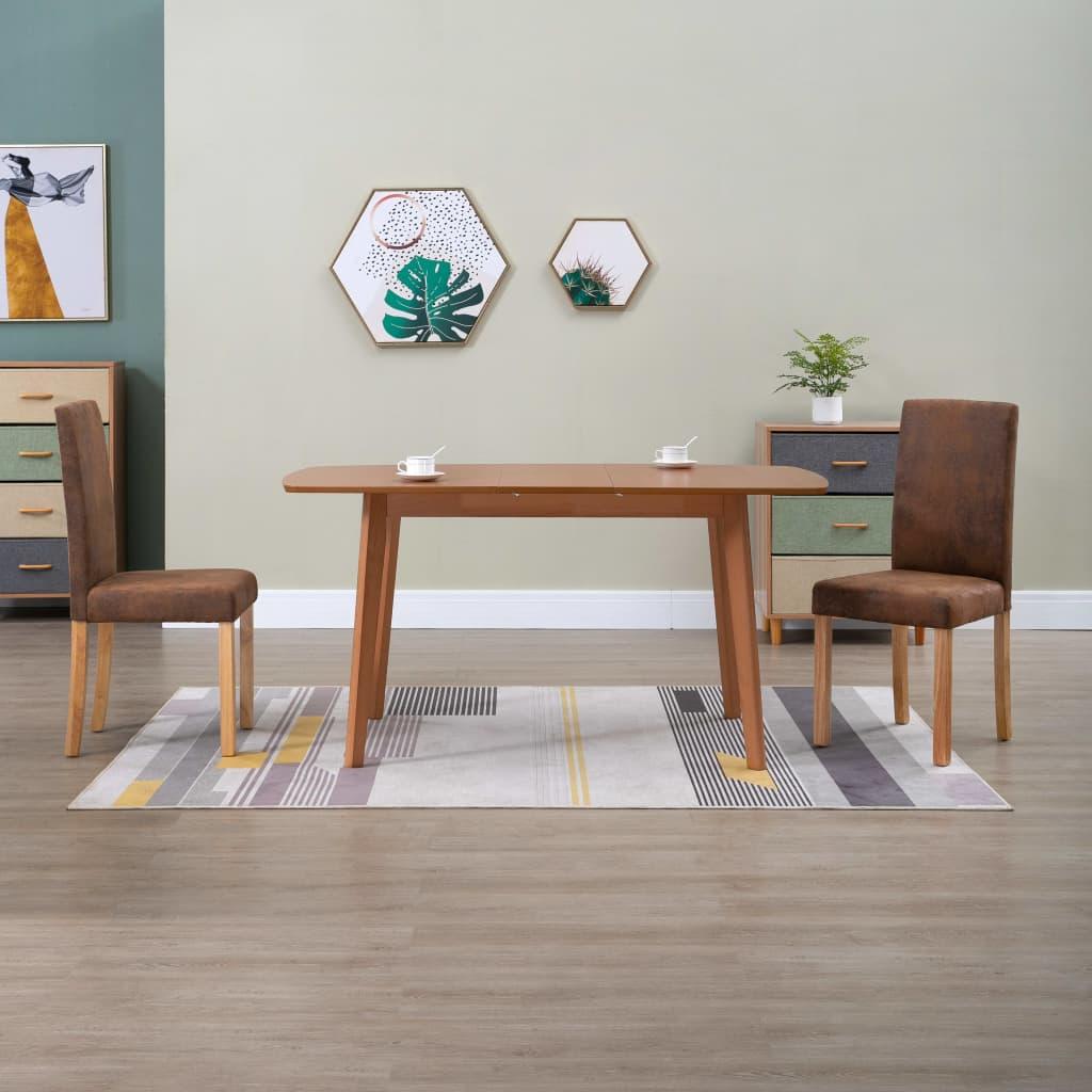vidaXL spisebordsstole 2 stk. imiteret ruskind brun