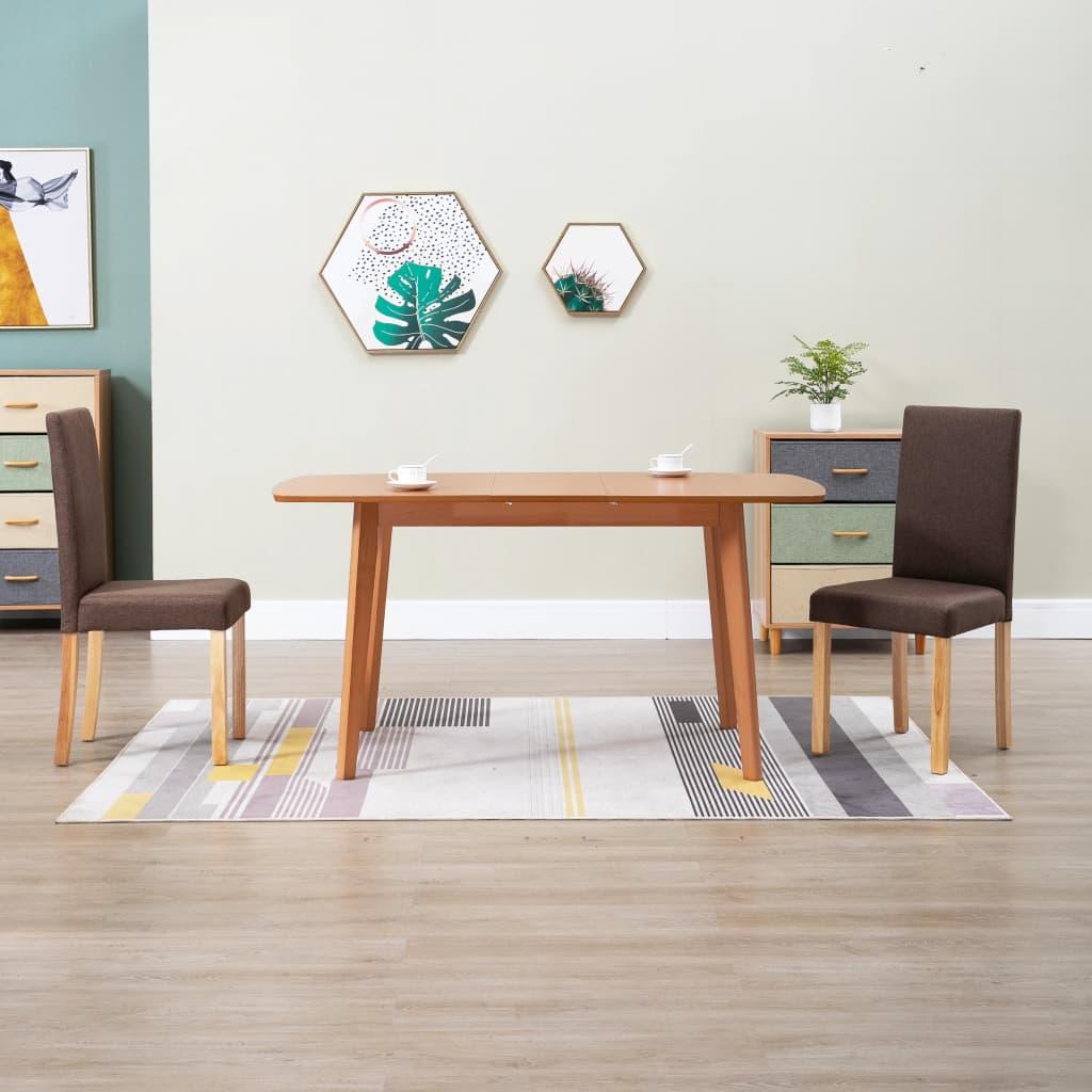 Jídelní židle 2 ks hnědé textil