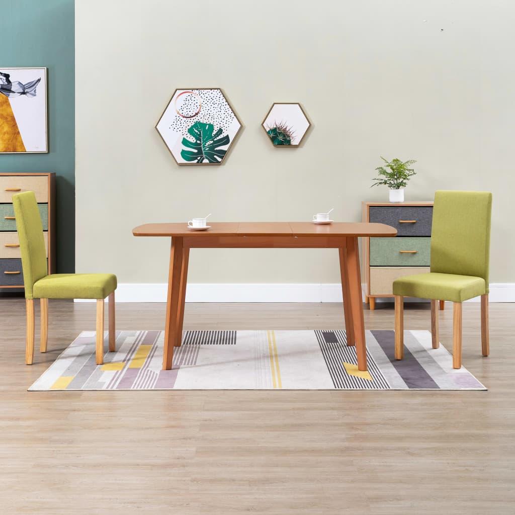 Jídelní židle 2 ks zelené textil