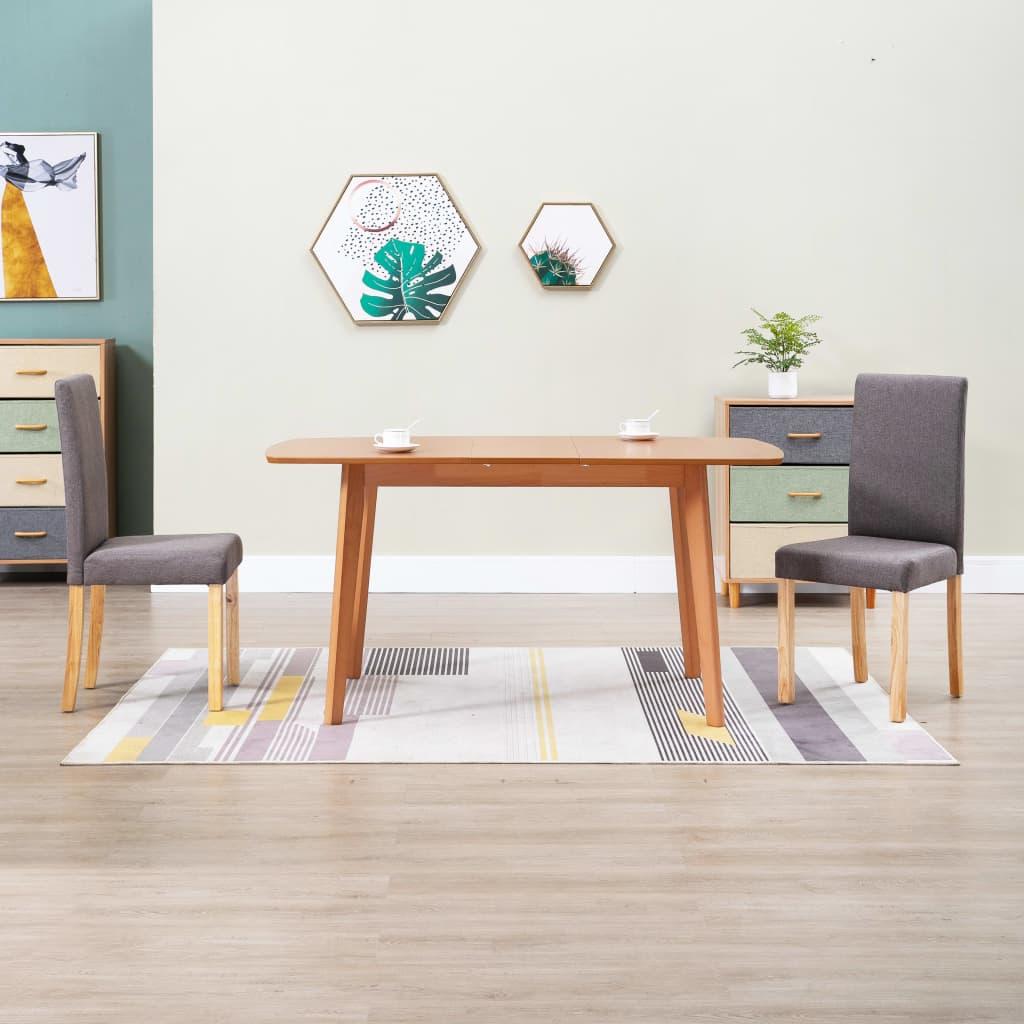 Jídelní židle 2 ks taupe textil