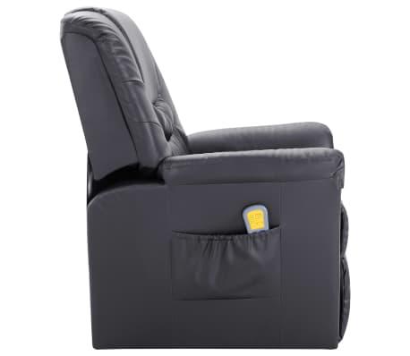 vidaXL Atlošiamas masažinis krėslas, pilkas, dirbtinė oda[3/11]