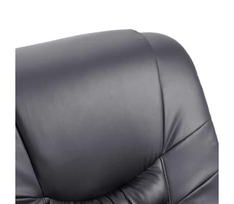 vidaXL Atlošiamas masažinis krėslas, pilkas, dirbtinė oda[7/11]