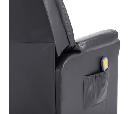 vidaXL Elektryczny fotel do masażu, z regulacją, szary, ekoskóra[8/11]