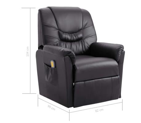 vidaXL Elektryczny fotel do masażu, z regulacją, szary, ekoskóra[10/11]