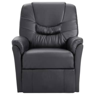 vidaXL Atlošiamas masažinis krėslas, pilkas, dirbtinė oda[2/11]