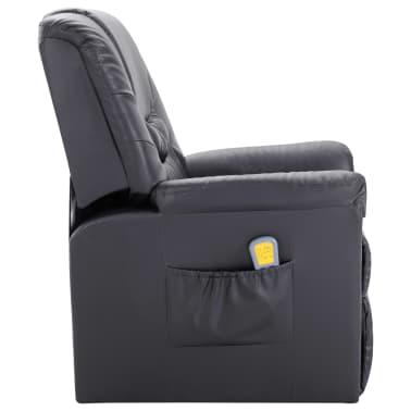 vidaXL Elektryczny fotel do masażu, z regulacją, szary, ekoskóra[3/11]