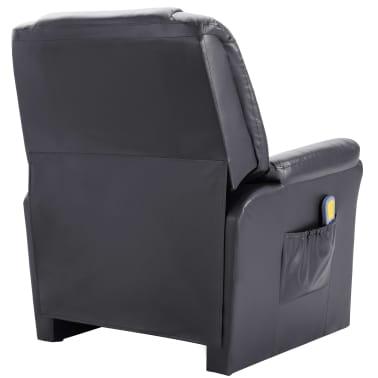 vidaXL Elektryczny fotel do masażu, z regulacją, szary, ekoskóra[4/11]